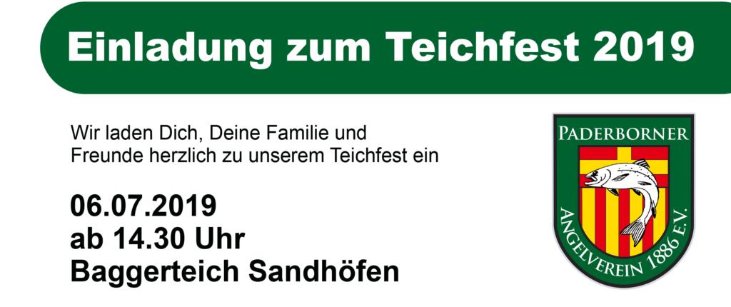 Der Paderborner Angelverein lädt zu seinem Teichfest ein