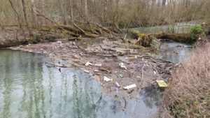 Pader Verschmutzung mit Müll, Mikroplastik